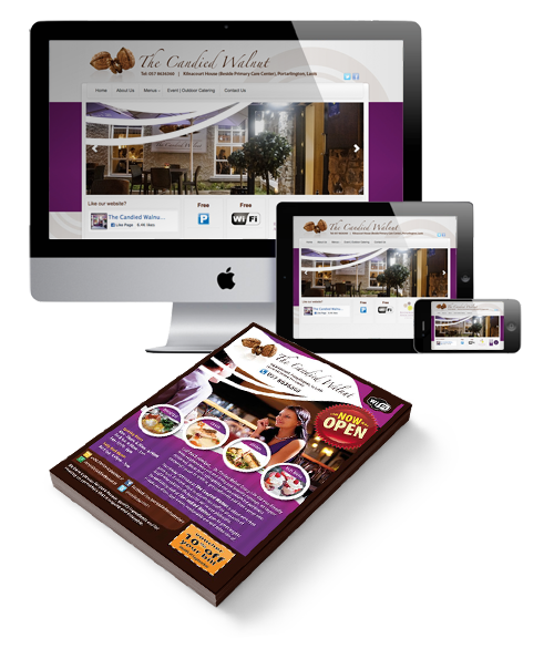 Web Design Branding Print The Candied Walnut